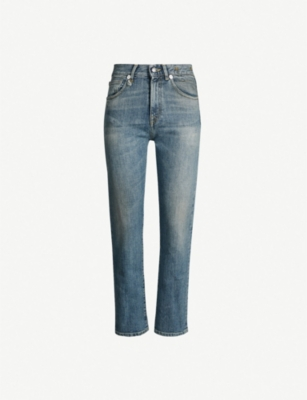 R13 Faded straight mid-rise jeans