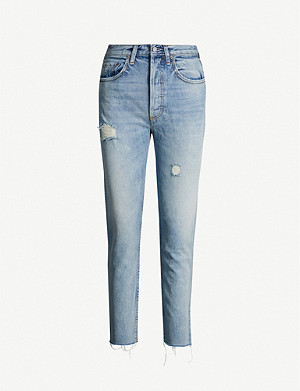 BOYISH Billy faded skinny mid-rise jeans