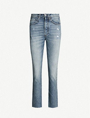 BOYISH Darcy cropped flared high-rise jeans