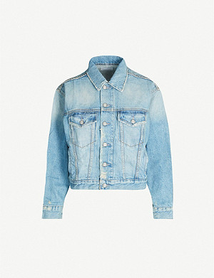 BOYISH Harvey cropped BCI and recycled-cotton jacket