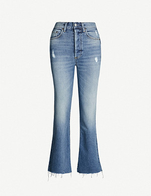 BOYISH Brady cropped flared high-rise jeans