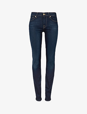 7 FOR ALL MANKIND Roxanne slim-fit mid-rise jeans