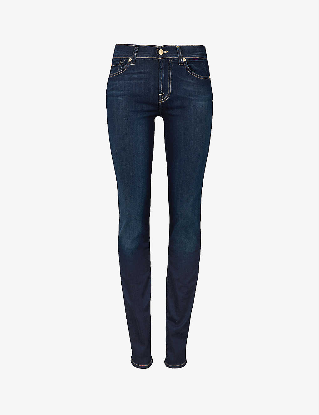 7 FOR ALL MANKIND: Roxanne slim-fit mid-rise jeans