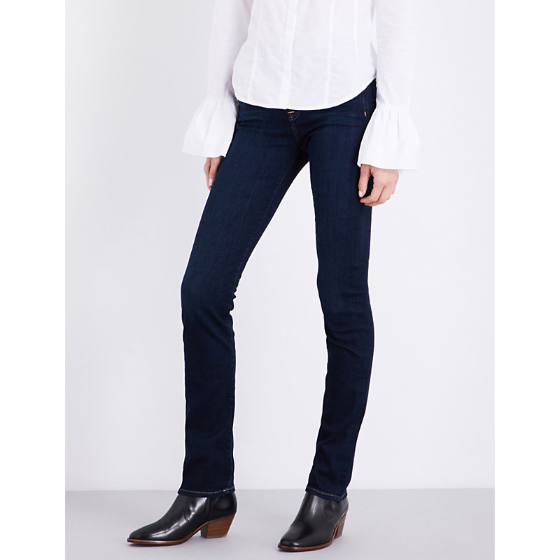 7 FOR ALL MANKIND | Kimmie Slim-Fit Straight-Leg Stretch-Denim Jeans | Goxip