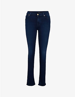7 FOR ALL MANKIND: Rozie slim high-rise jeans