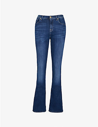 7 FOR ALL MANKIND: Bair bootcut mid-rise jeans