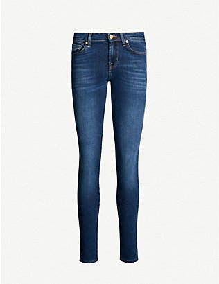 7 FOR ALL MANKIND: Bair super-skinny mid-rise jeans
