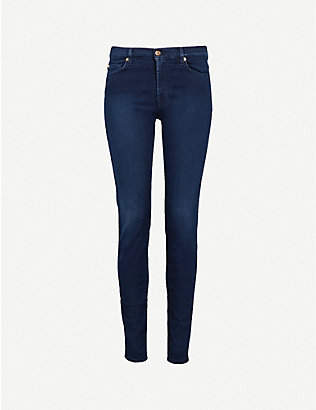 7 FOR ALL MANKIND:Slim Illusion 超紧身高腰牛仔裤