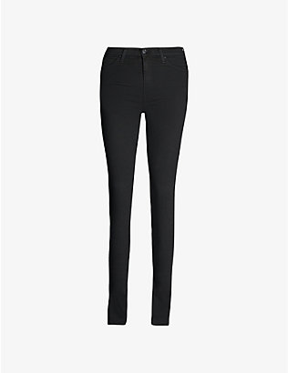7 FOR ALL MANKIND: Illusion luxe skinny high-rise jeans