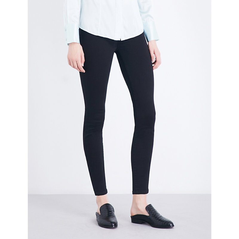7 FOR ALL MANKIND | Illusion Luxe Super-Skinny High-Rise Jeans | Goxip