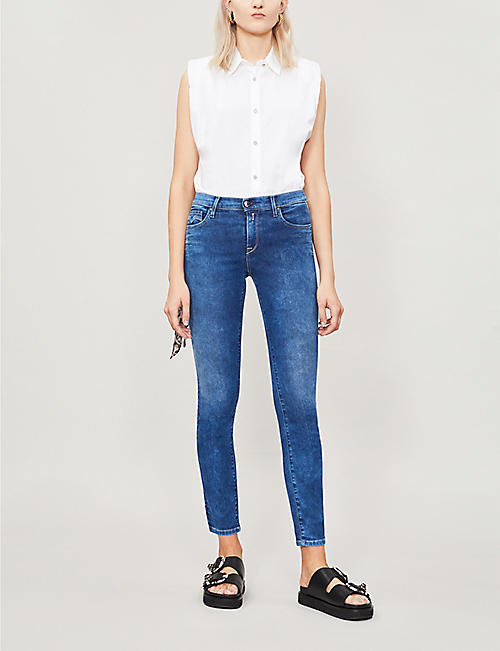 REPLAY Vivy faded skinny high-rise jeans