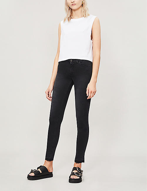 REPLAY Luz faded skinny high-rise jeans