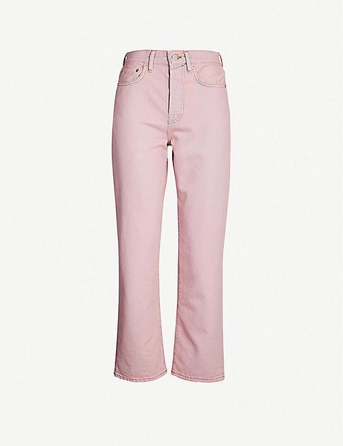 promo code e7434 94f38 ACNE STUDIOS High-rise cropped kick flare jeans