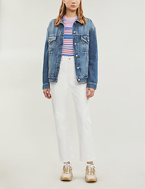 ACNE STUDIOS Mece high-rise straight cropped jeans