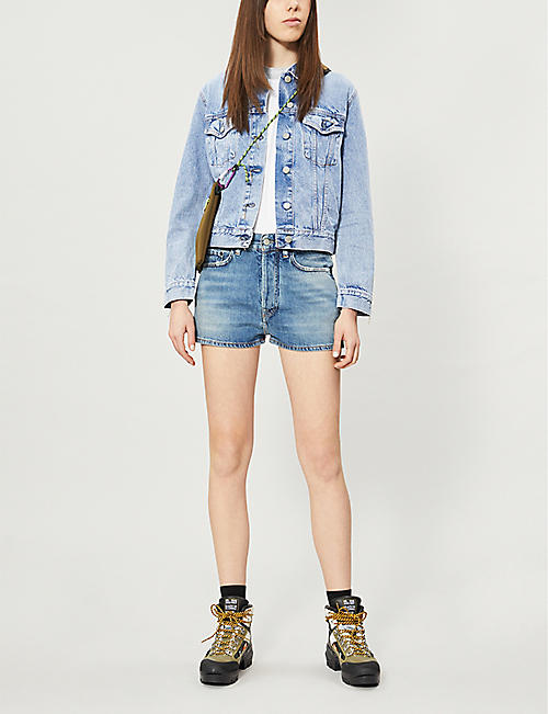 ACNE STUDIOS Faded high-rise denim shorts