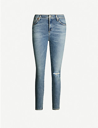 CITIZENS OF HUMANITY: Rocket cropped skinny high-rise jeans