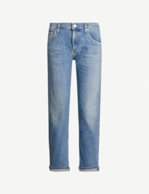 CITIZENS OF HUMANITY Emerson faded boyfriend-fit high-rise jeans