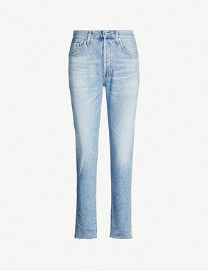CITIZENS OF HUMANITY Liya cropped high-rise faded boyfriend jeans
