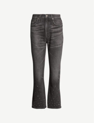CITIZENS OF HUMANITY Estella bead-embellished high-rise straight jeans