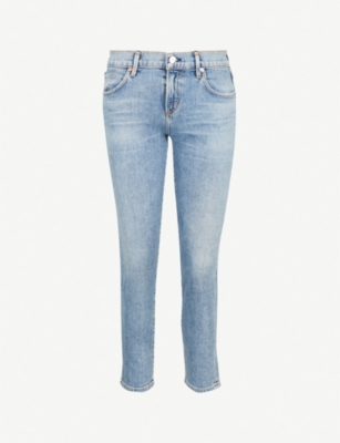 CITIZENS OF HUMANITY Elsa cropped high-rise straight-leg jeans