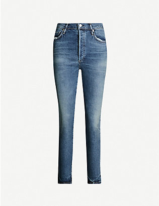 CITIZENS OF HUMANITY: Olivia slim relaxed-fit high-rise jeans