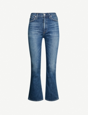CITIZENS OF HUMANITY Demy high-rise cropped stretch-denim jeans