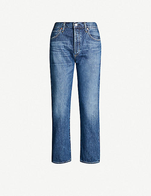 CITIZENS OF HUMANITY Emery straight mid-rise jeans