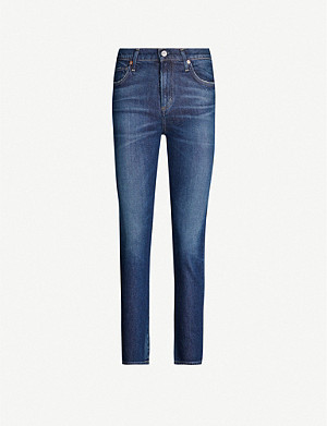 CITIZENS OF HUMANITY Harlow straight-leg faded high-rise jeans