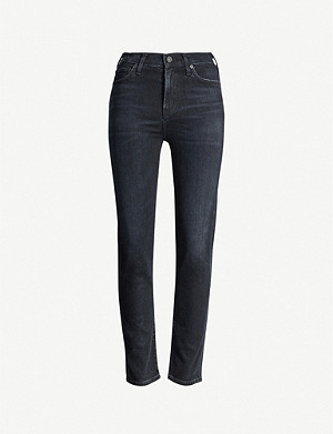 CITIZENS OF HUMANITY Harlow slim-fit mid-rise velvet trousers