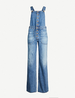 CITIZENS OF HUMANITY Faye faded denim dungarees
