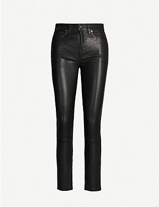 CITIZENS OF HUMANITY: Harlow skinny-fit leather trousers
