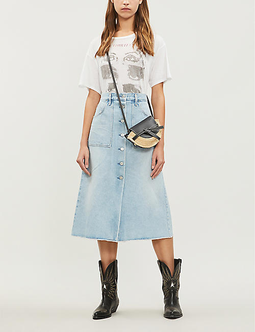 CITIZENS OF HUMANITY Amelia high-rise denim skirt
