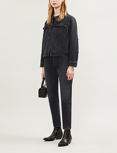 CITIZENS OF HUMANITY Alexis ruffled denim jacket