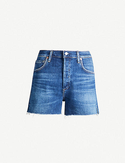 0ac59d2f78c2c CITIZENS OF HUMANITY Marlow high-rise stretch-denim shorts