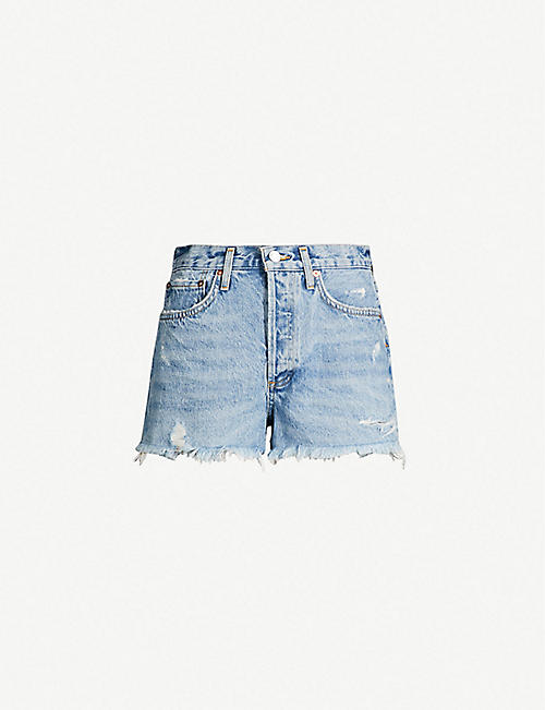 AGOLDE Parker high-rise denim shorts