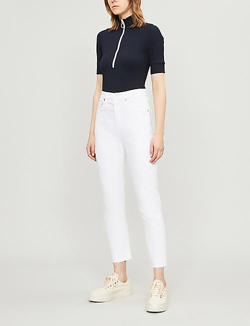 AGOLDE Riley cropped straight high-rise jeans