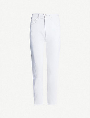 AGOLDE: Riley cropped straight high-rise jeans