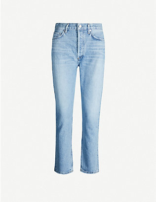 AGOLDE: Riley straight cropped high-rise jeans