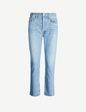 AGOLDE Riley straight cropped high-rise jeans