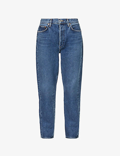 AGOLDE: Riley straight cropped mid-rise jeans