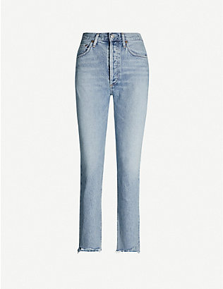 AGOLDE: Riley straight high-rise jeans