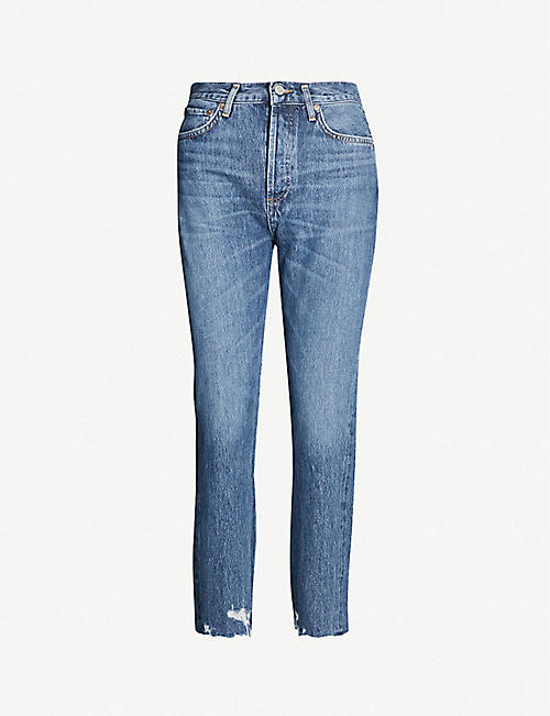 18904ba61 AGOLDE Riley straight cropped mid-rise jeans