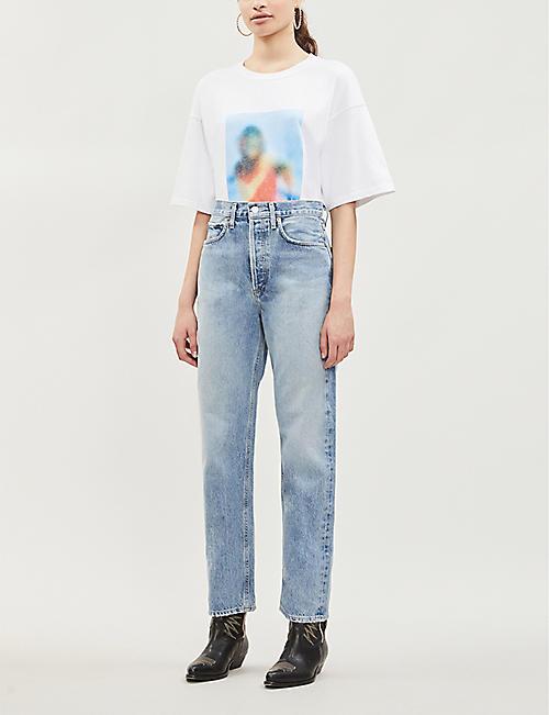 AGOLDE 90s mid-rise faded straight-leg jeans