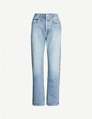 AGOLDE: 90s mid-rise faded straight-leg jeans