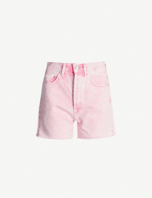 AGOLDE Dee high-rise denim shorts