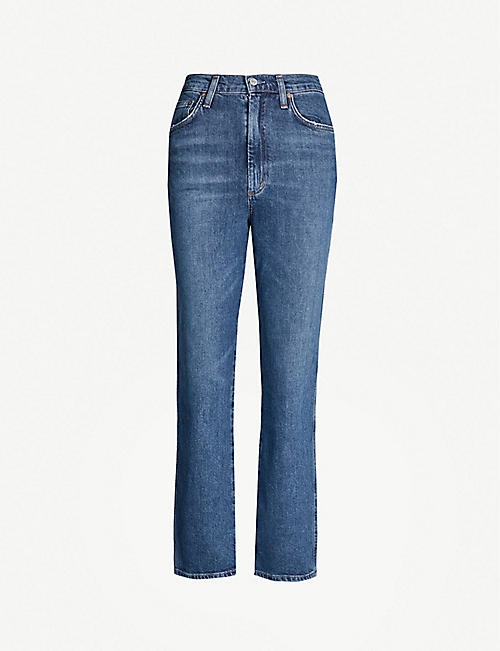 AGOLDE Pinch Waist flared high-rise jeans