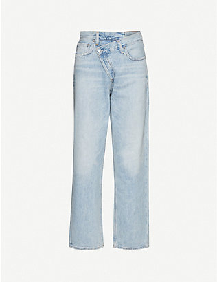 AGOLDE: Criss Cross straight mid-rise jeans
