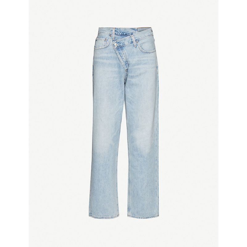Agolde CRISS CROSS STRAIGHT MID-RISE JEANS