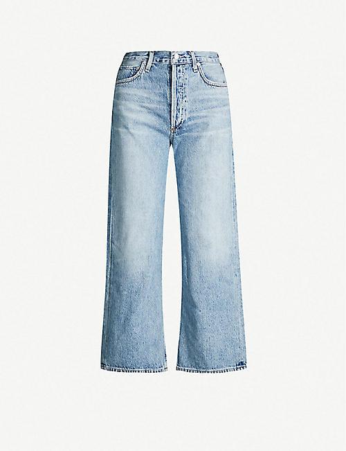 30e65b645e61 AGOLDE Ren high-rise wide-leg cropped jeans