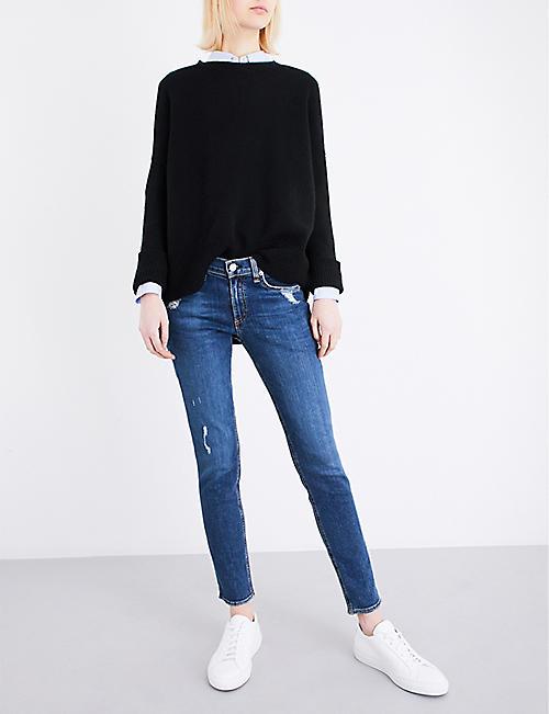 95ccf65a6cc RAG & BONE Ripped skinny mid-rise jeans
